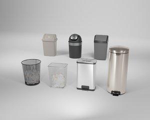 3D indoor trash cans