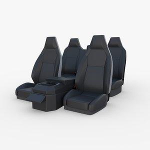 tesla cybertruck seats 3D