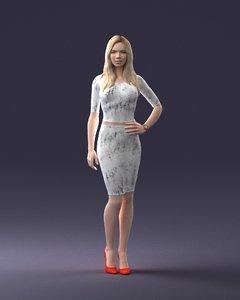 3D model scanned realistic human