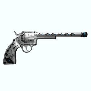 gun white 3D model