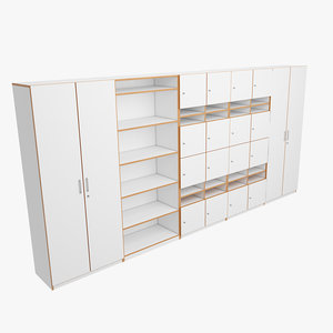 3D office storage model