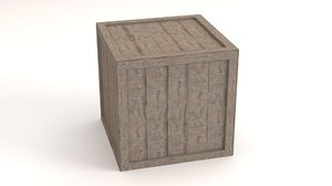 3D wooden box contains model