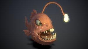 3D animation teeths eyes model