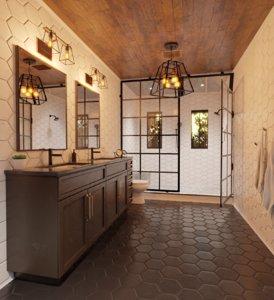 transitional bathroom 3D model