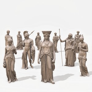 ancient greek sculptures 3D