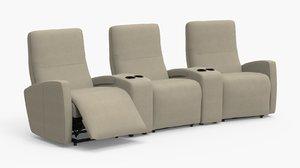 sierra reclaning sofa seat 3D model
