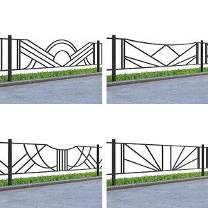 lawn fences 3D model