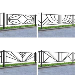 fence lawn 3D