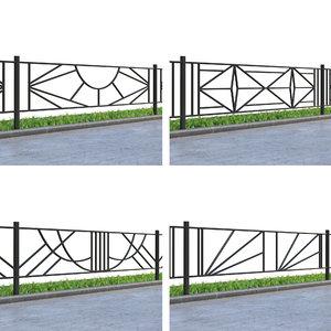 3D lawn fences model
