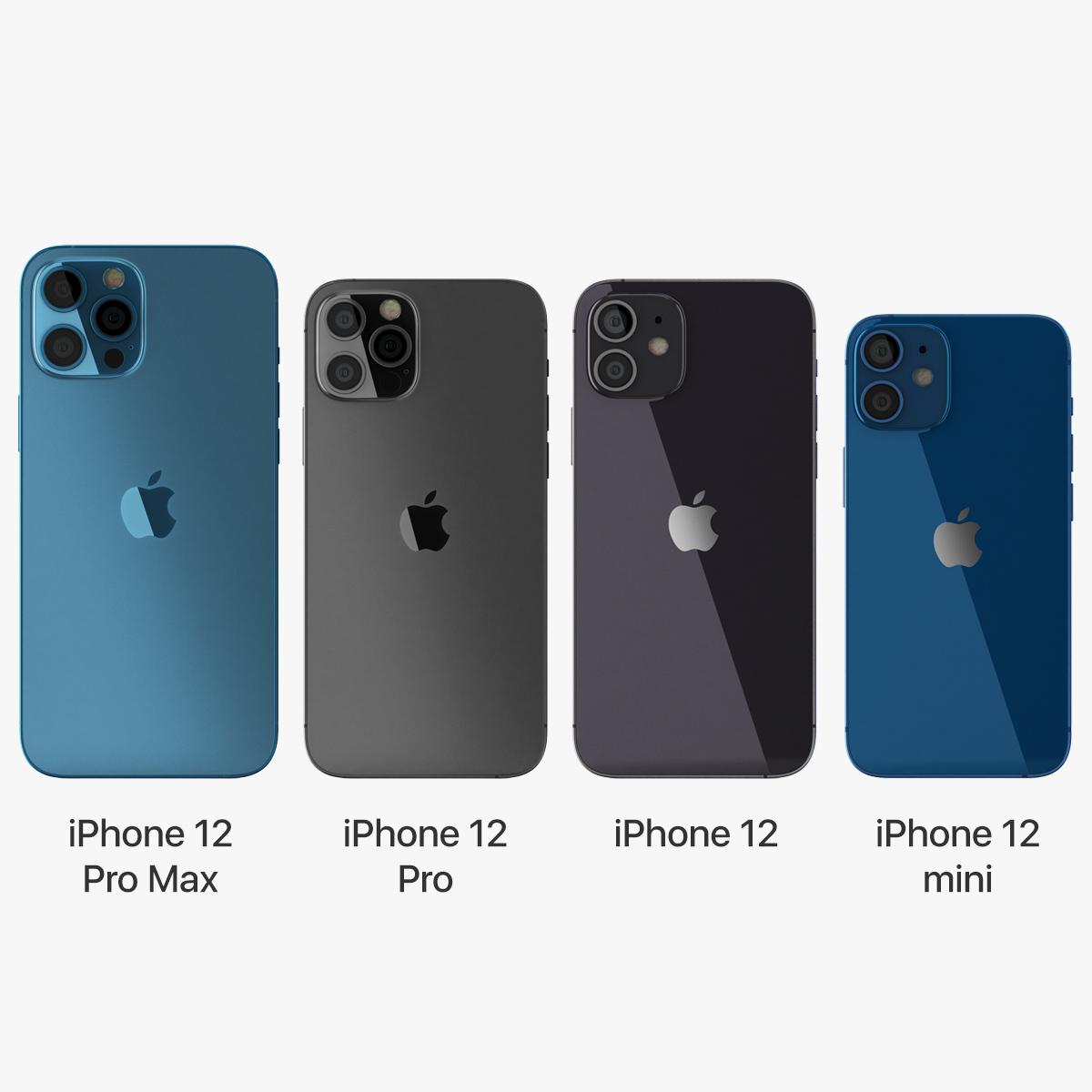 3D apple iphone 12 set