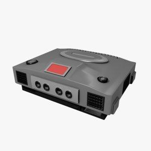 retro console design model