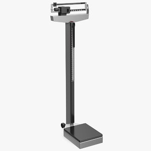 3D mechanical patient weighing scale