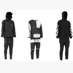 3D model hoodie men s