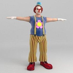 bobby clown 3D model