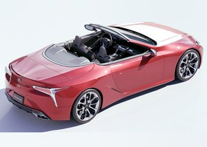 3D lexus lc 500 convertible model