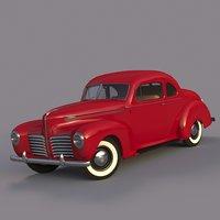 retro car Hudson coupe 1940