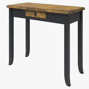 desk gold pbr 3D