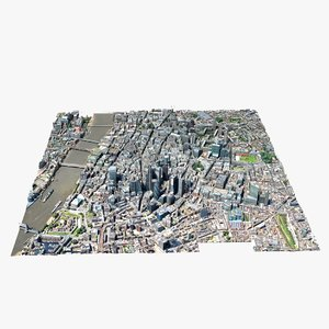 london maps 3D model