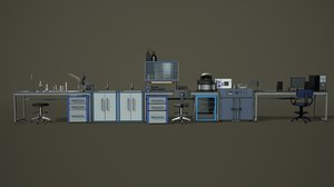 3D laboratory pbr