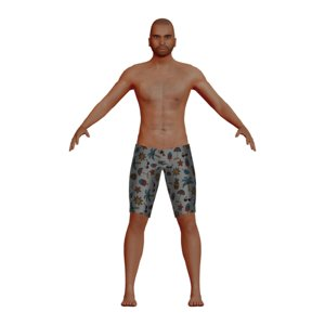 3D middle aged latino man model