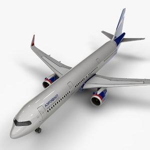 a321 neo aeroflot l1033 3D model