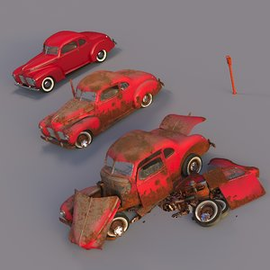 rusty hudson coupe car 3D