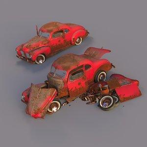 rusty hudson coupe car model