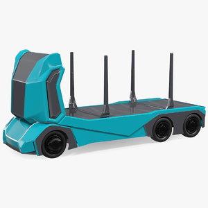 autonomous electric logging truck vehicle 3D model