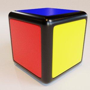 toy rubiks cube 1x1x1 3D model