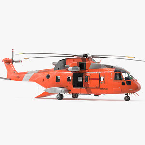 search rescue helicopter copters 3D model