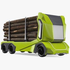 self driving logging truck 3D model