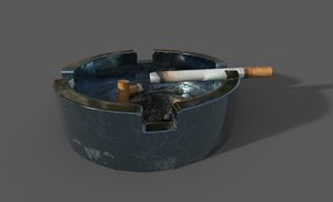 3D cigarette ashtray model
