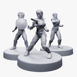 3D set cosmo cavaleiro