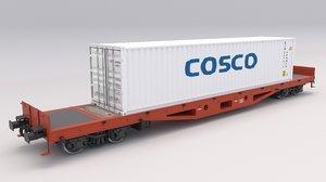 3D flat rail car cosco