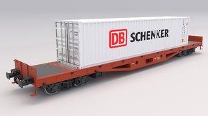 flat rail car db model