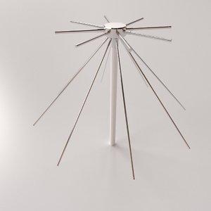3D discone antenna