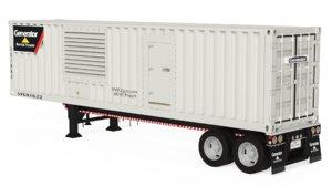 3D model mobile generator rental