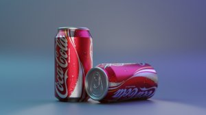 simple canned drink 3D model