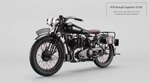3D model 1930 brough superior ss100