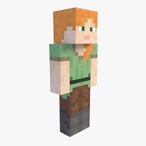 minecraft alex 3D