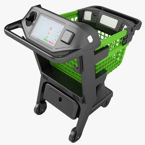 3D shopping smart cart model