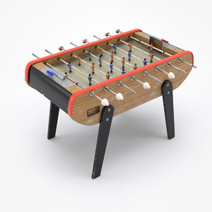 3D vintage football soccer table model