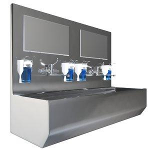 3D medical surgical sink