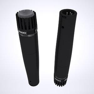 mic microphone shure 3D model