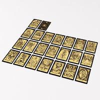 Golden Tarot Cards Major Arcana