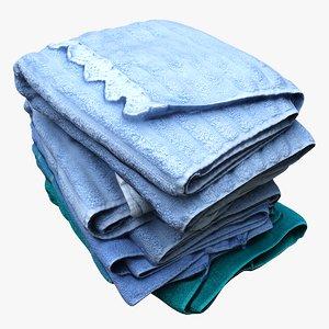 clothes towels 3D model