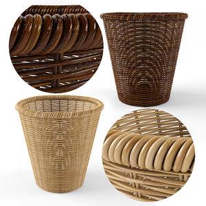 plant pot rattan model