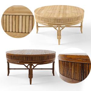 beach coffee tables 3D model
