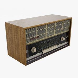 vintage soviet radio rodina 3D model