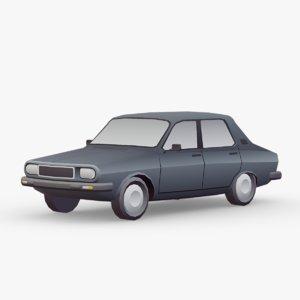 3D 12 car renault vehicle
